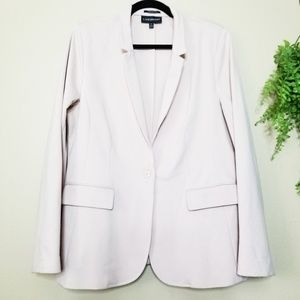 Lane Bryant | Blush Pink Ponte Knit Jersey Blazer